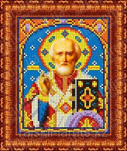 """Рисунок на ткани для вышивания бисером/крестом  """"Икона Св. Николай Чудотворец"""" КБИ-5025/1"""