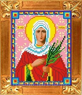 """Рисунок на ткани для вышивания бисером/крестом  """"Икона Св. Мученица Татиана"""" КБИ-5048"""