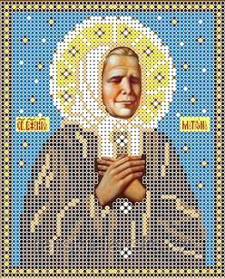 """Рисунок на ткани для вышивания бисером/крестом  """"Икона Св. Матрона Московская"""" КБИ-5027"""