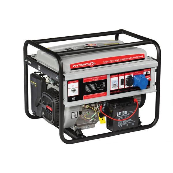 Мультитопливная электростанция ЭБГ-5500 Интерскол