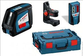 Линейный лазерный нивелир Bosch GLL 2-50 + BM1 (новый) + LR2 в L-Boxx
