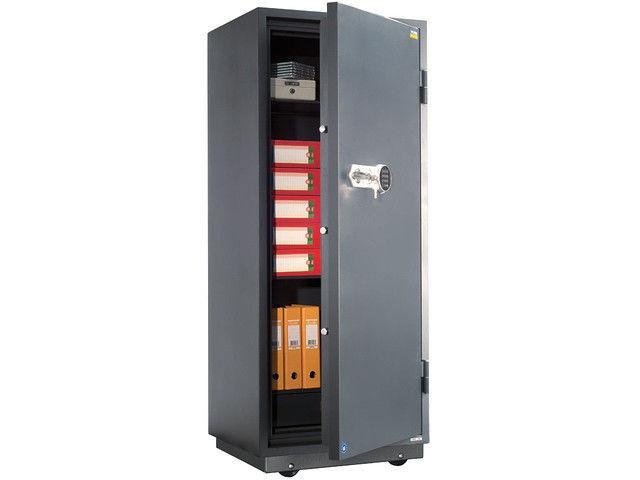 Огнестойкий сейф на колёсах VALBERG FRS-173 EL с трейзером, с электронным и ключевым замками
