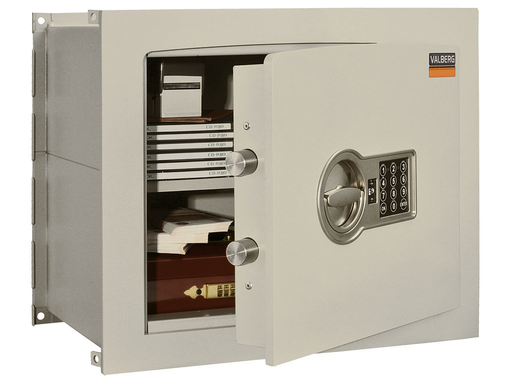 Встраиваемый сейф VALBERG AW-1 3836 EL с электронным замком PS 300 (классы - 1, S2)