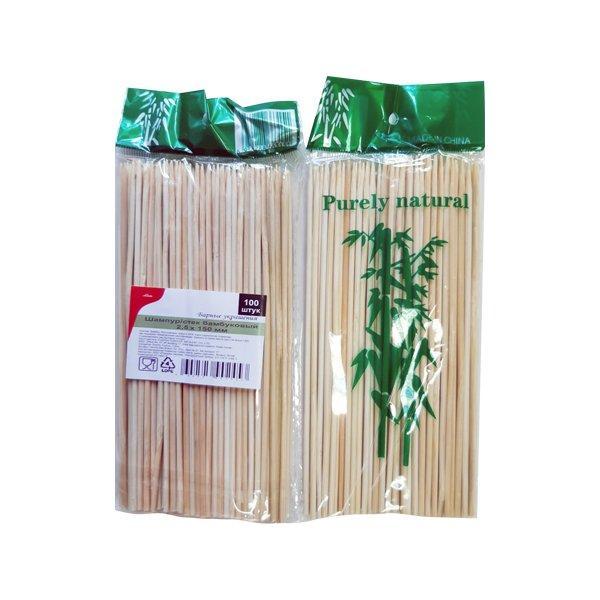 Палочки д/шашлыка, d 2.5мм, 150мм, бамбук, 100 шт