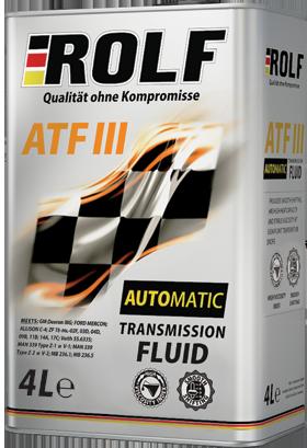 Трансмиссионное масло в АКПП и ГУР ROLF ATF III 4L