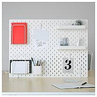 Настенная панель СКОДИС комбинация, белый ИКЕА, IKEA