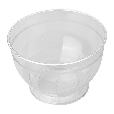 Креманка круглый внеш. d-95мм, h-70мм, 200мл, прозрачный, ПС, на ножке, 192 шт, фото 2