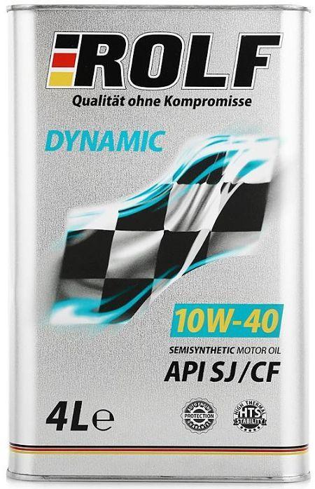 Моторное масло ROLF DYNAMIC 10W40 SJ/CF 4L