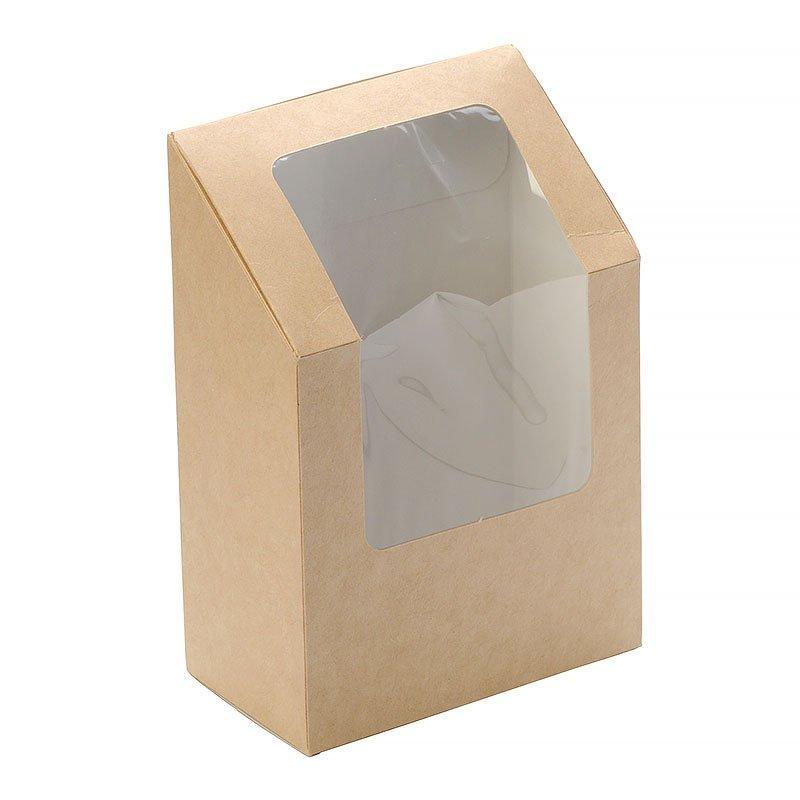 "Коробка ""DoEco"" 90х50х130мм ECO ROLL, для ролов, с окном, коричн., 500 шт"