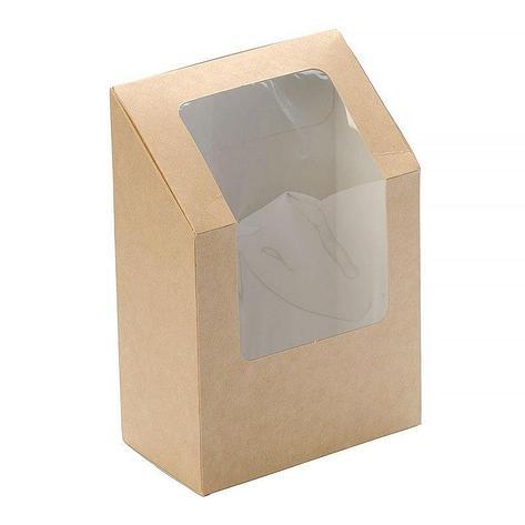 """Коробка """"DoEco"""" 90х50х130мм ECO ROLL, для ролов, с окном, коричн., 500 шт, фото 2"""