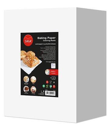 Бумага д/выпечки в рулоне 57 см х 200м  (Saga Baking), вес рулона 4,87кг, фото 2