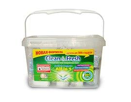 Таблетки для ПММ Clean&Fresh All in1 mega (60 табл.), 60 шт