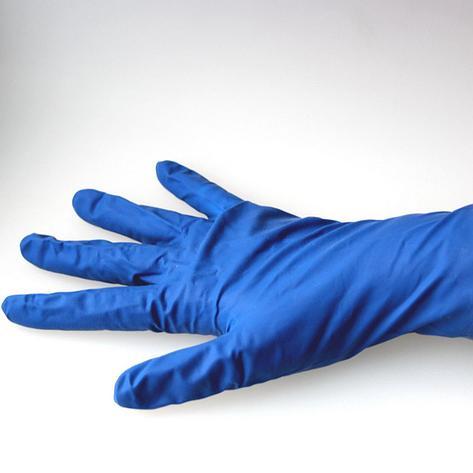 Перчатки латексные повышенной прочности неопудренные (хозяйственные), размер M, 50 шт, фото 2