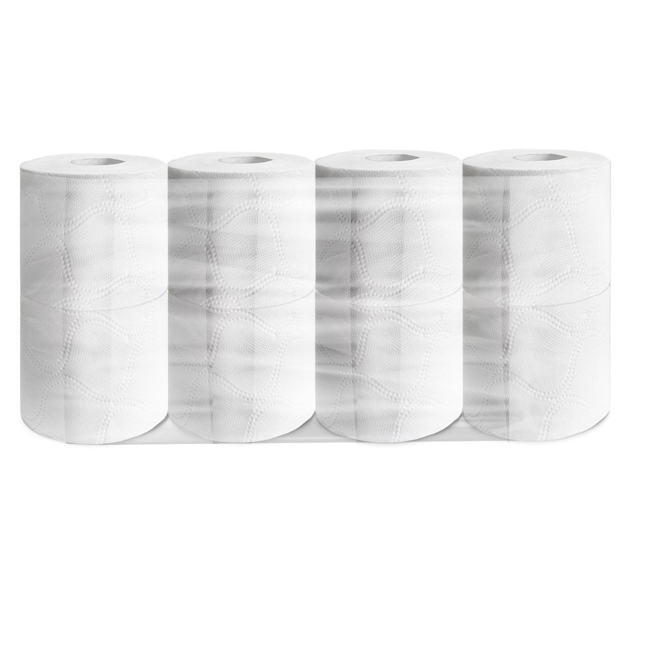 Бумага туалетная 3сл. 8шт. Veiro Professional Premium, 20м, 160лист/рул, бел., целлюлоза, 8 шт