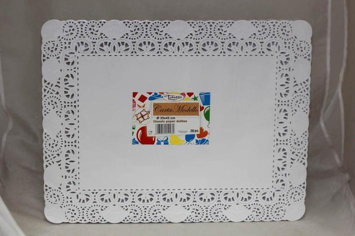 Салфетки серв., прямоуг., 35х45см(внут.22*32см), бел. бум., фото 2