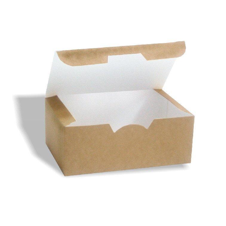 Коробка на вынос 150х91х70 мм крафт без печати, 225 шт