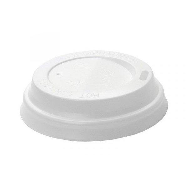 Крышка для стаканов, для холодного/горячего, 90 мм, белая, 5 шт