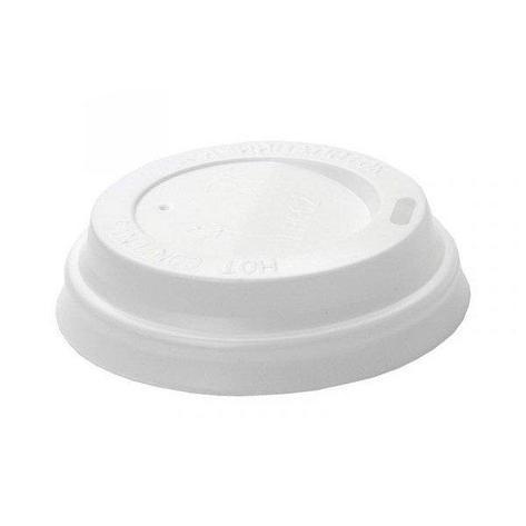 Крышка для стаканов, для холодного/горячего, 90 мм, белая, 5 шт, фото 2