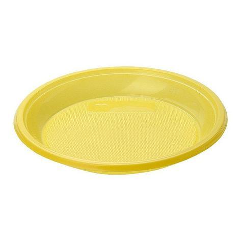 Тарелка десертная, d 170мм, жёлтая, 12 шт, фото 2