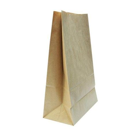 Пакеты на вынос (240+140)х400мм коричн.,70г/м2, крафт бум. б/ручек , 400 шт, фото 2