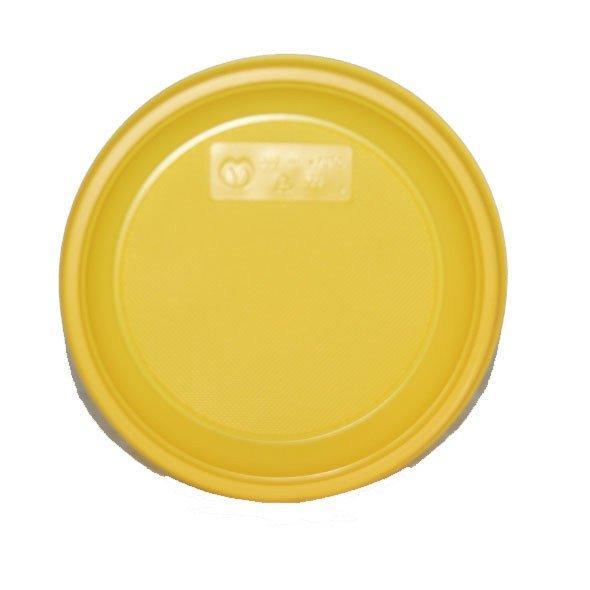 Тарелка дес., d 170мм, жёлт., ПС, 12 шт