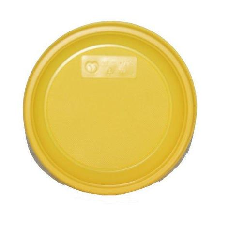 Тарелка дес., d 170мм, жёлт., ПС, 12 шт, фото 2