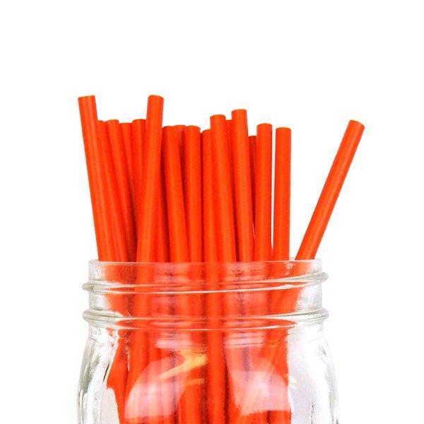 """Трубочки бумажные """"Рэд"""" цвет красный """"d=6мм L = 195мм"""", 250 шт"""