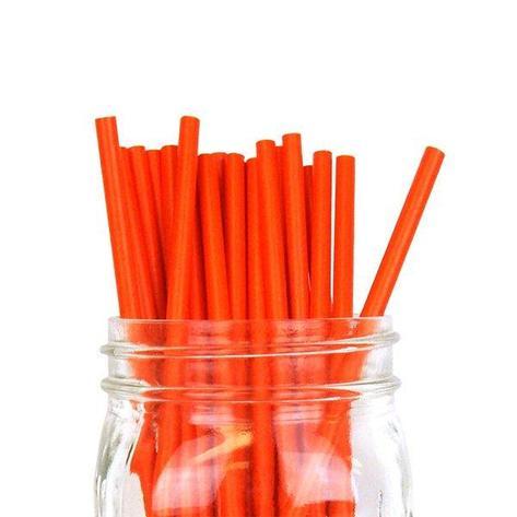 """Трубочки бумажные """"Рэд"""" цвет красный """"d=6мм L = 195мм"""", 250 шт, фото 2"""