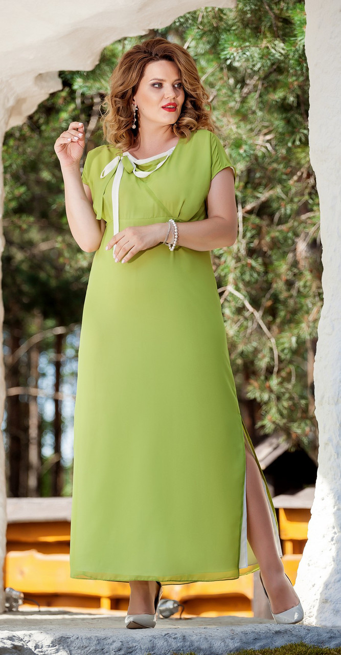 Платье TEZA-214/3, олива, 48
