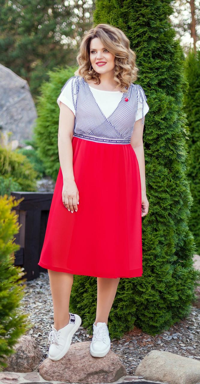 Платье TEZA-218, красный, 46