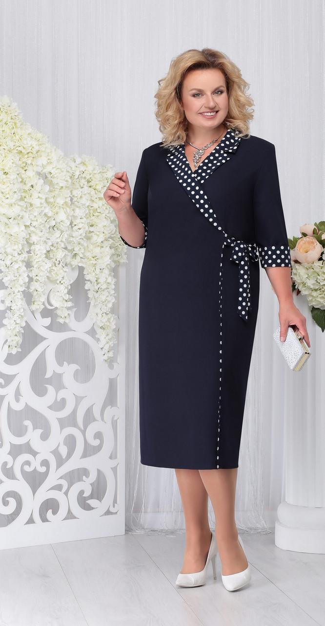 Платье Ninele-2214, темно-синий, 56