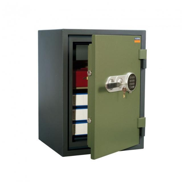 Огнестойкий сейф на колёсах VALBERG FRS-66T EL с кассовой ячейкой, с электронным и ключевым замками