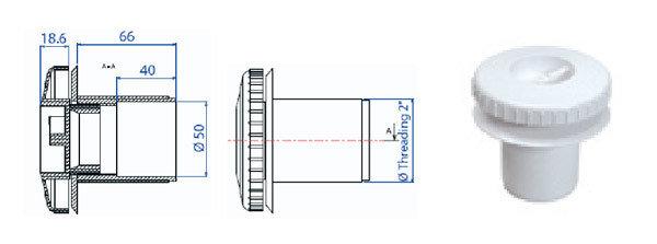 Возвратная форсунка для бетона без закладной трубы RB 310, фото 2
