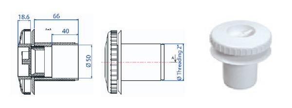 Форсунка для пылесоса для пленки без закладной трубы RL 323