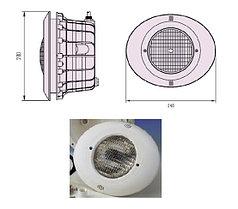 Прожектор встраиваемый, для бетона, 300 Вт/12В, облицовка из пластика B-032-New