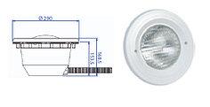 Прожектор встраиваемый, для бетона, 300 Вт/12В, облицовка из пластика PB 84V