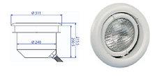 Прожектор встраиваемый, для бетона, поворотный, 300 Вт/12В, облицовка из пластика PL 96B