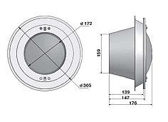 Прожектор встраиваемый, для пленки, 300 Вт/12В, корпус и облицовка из нерж. Стали 300СА
