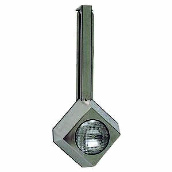 Прожектор накладной, с креплением на борт бассейна, 300Вт/12В, облицовка из нерж.стали. 303