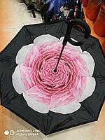 Зонт-наоборот, розовый пион