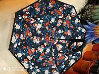 Зонт-наоборот, красные розочки