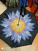 Зонт-наоборот, голубой цветок