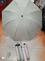 Полуавтоматический складной женский зонт, серый