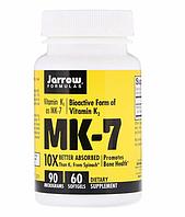 Jarrow Formulas, MK-7, витамин K2 в форме MK-7, 90 мкг, 60 мягких таблеток