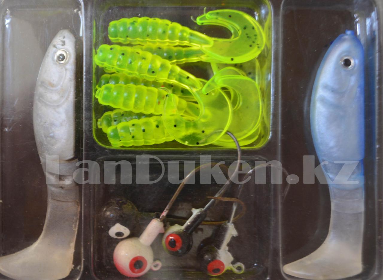 Набор виброхвостов 21 штука + 4 крючка (рыболовные приманки) - фото 4