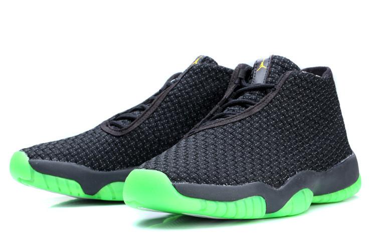 Баскетбольные кроссовки Nike Air Jordan 11 Future Premium черно-зеленые