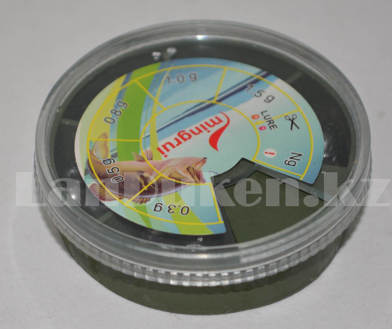 Набор грузил дробинок для рыбалки 0.3 - 1.5 г Mingrui - фото 3