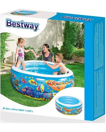 Бассейн надувной Bestway 51121 (Габариты: 152 х 51 см, на 400 литров ) , фото 2