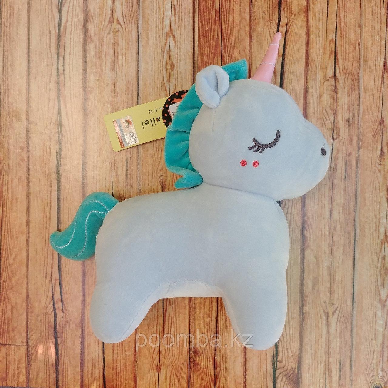 Мягкая игрушка Единорог - голубой