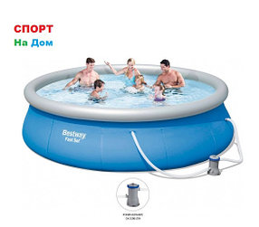 Большой надувной бассейн Bestway 57321 (Габариты: 396 х 84 см, на 7340 литров)
